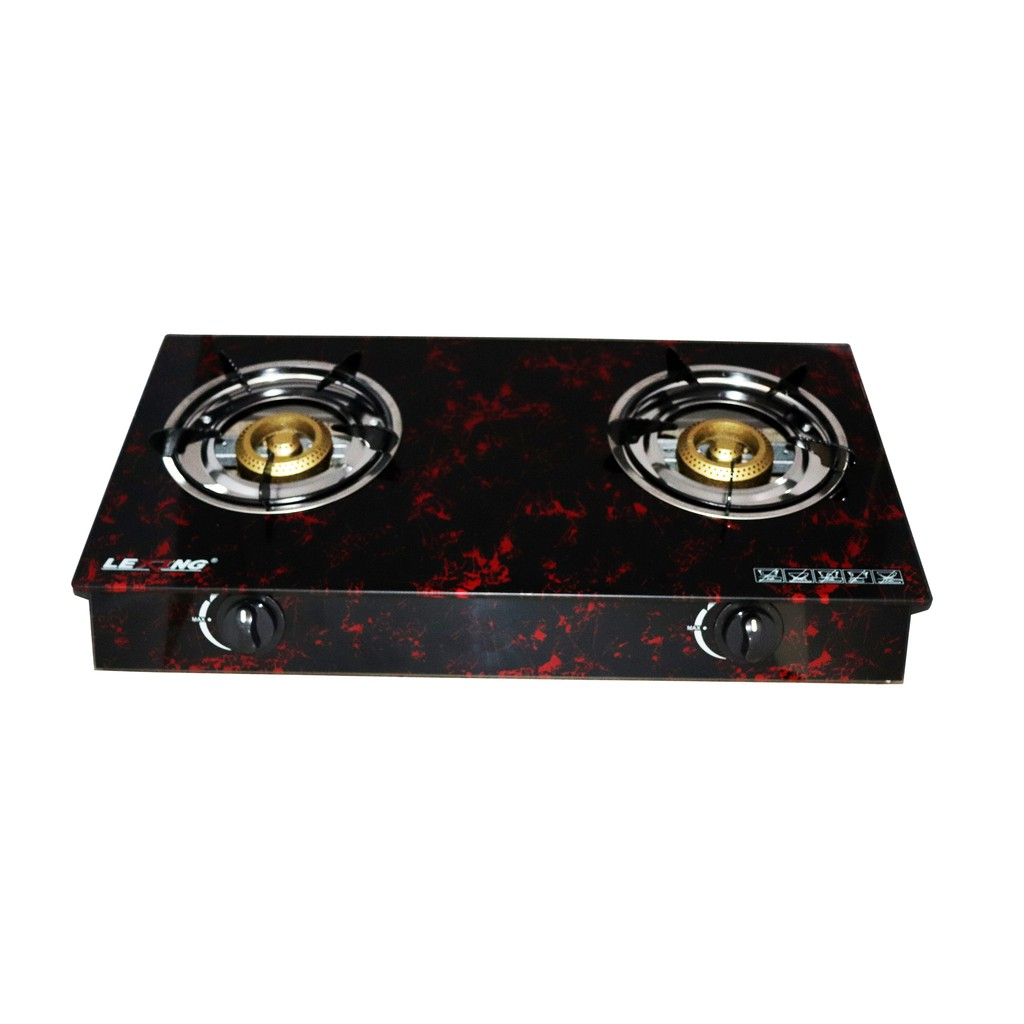 Lexing D04 Double Burner Gas Stove Glass Top One Year Shopee Philippines