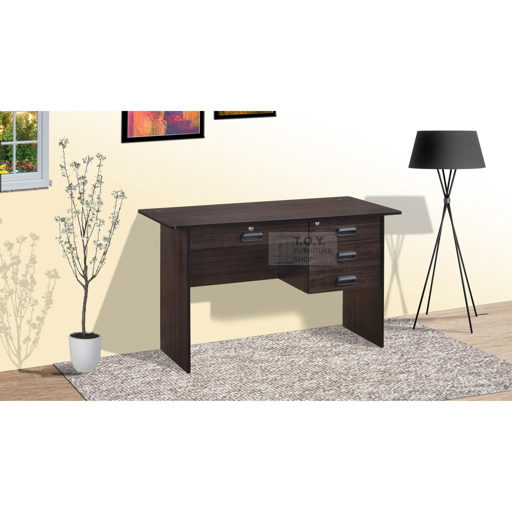 Office Table 2073 Desk With 4 Drawer Lock And Wire Hole Shopee Philippines