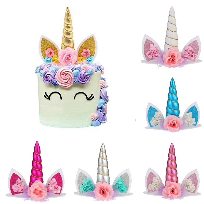 Unicorn Cake Topper Birthday Party Cupcake Party Decoration Unicorn Theme Shopee Philippines