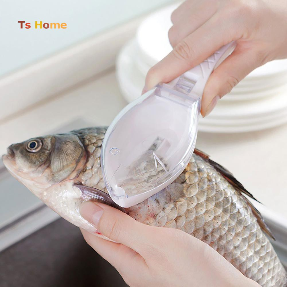 1pc Kitchen Fish Scales Skin Remover Scraper Peeler Home Use Easy Cleaning Tool