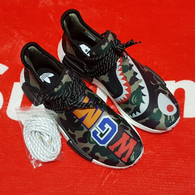 f1aa01cab3ccb Adidas NMD Human Race R1 x Pharrell Williams x BAPE Shark