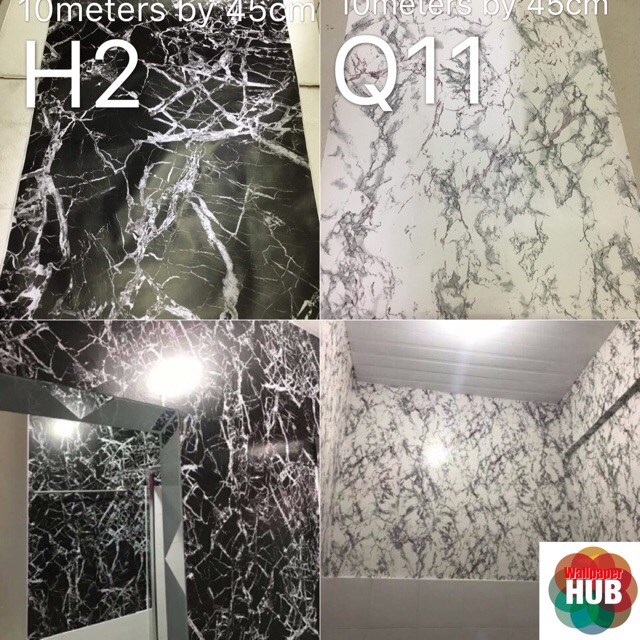 Hub Collage Marble Self Adhesive Wallpaper
