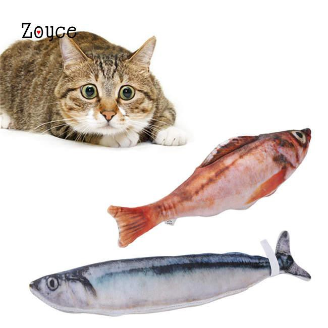 Zoyce <b>Cat Toy Simulation</b> Saury <b>Fish Pet</b> Supplies | Shopee ...