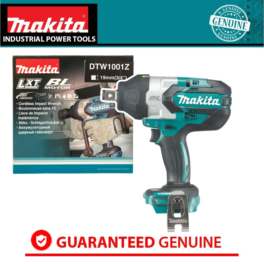 Makita Dtw1001z 18v Cordless Brushless Impact Wrench Lxt Series Bare Tool Shopee Philippines