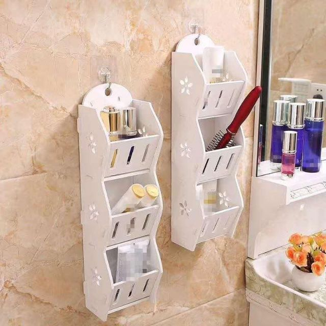 3 Layers Storage Rack Shelf Wall Hanging Organizer For Bathroom Cosmetics Makeup Shopee Philippines