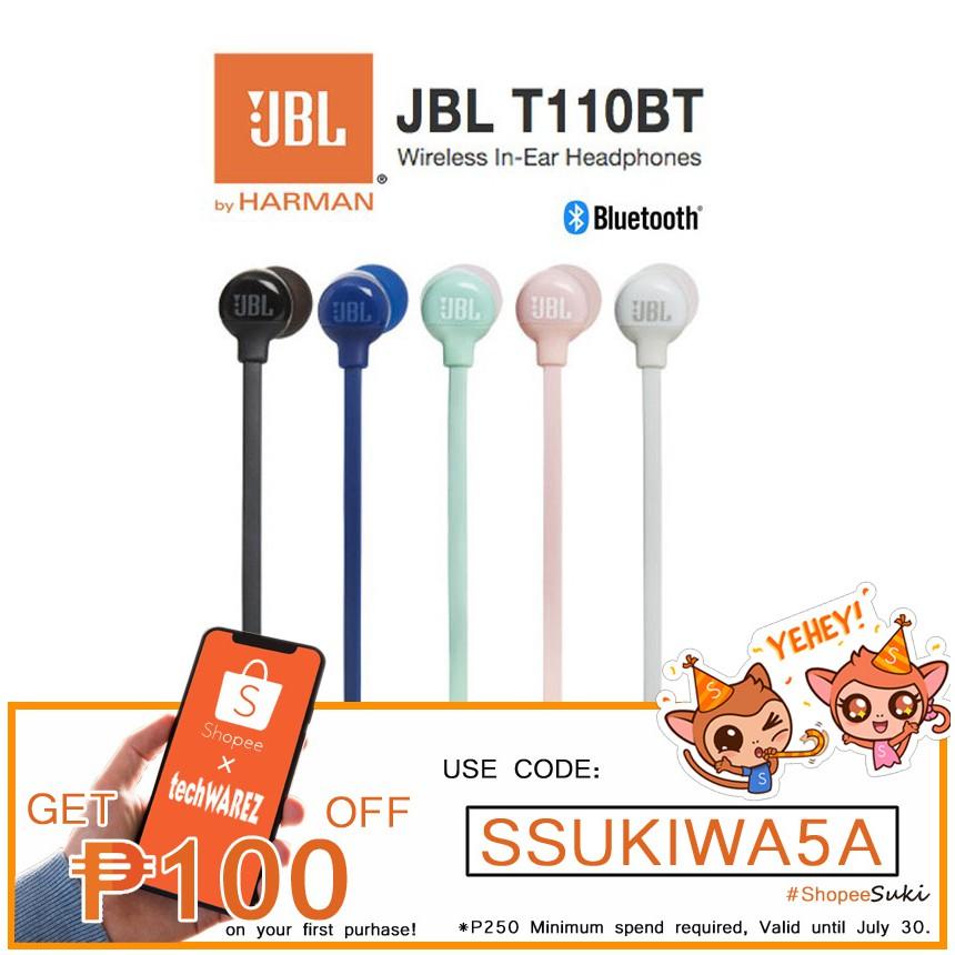 JBL T110 BT Wireless Bluetooth In-Ear Headphones