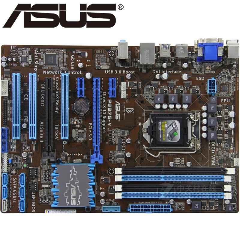Asus P8B75-V Desktop Motherboard B75 Socket LGA 1155 i3 i5 i7 DDR3 32G uATX  UEFI BIOS Original Used