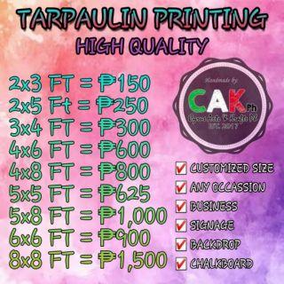 Tarpaulin printing   Shopee Philippines