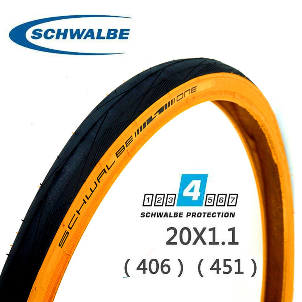 "Schwalbe One Tire 20x1-1//8/"" Clincher Wire Black Performance Line Addix RaceGuard"