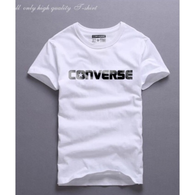 H-Quality Men's Cotton TShirt/converse shirt/korean shirt | Shopee  Philippines