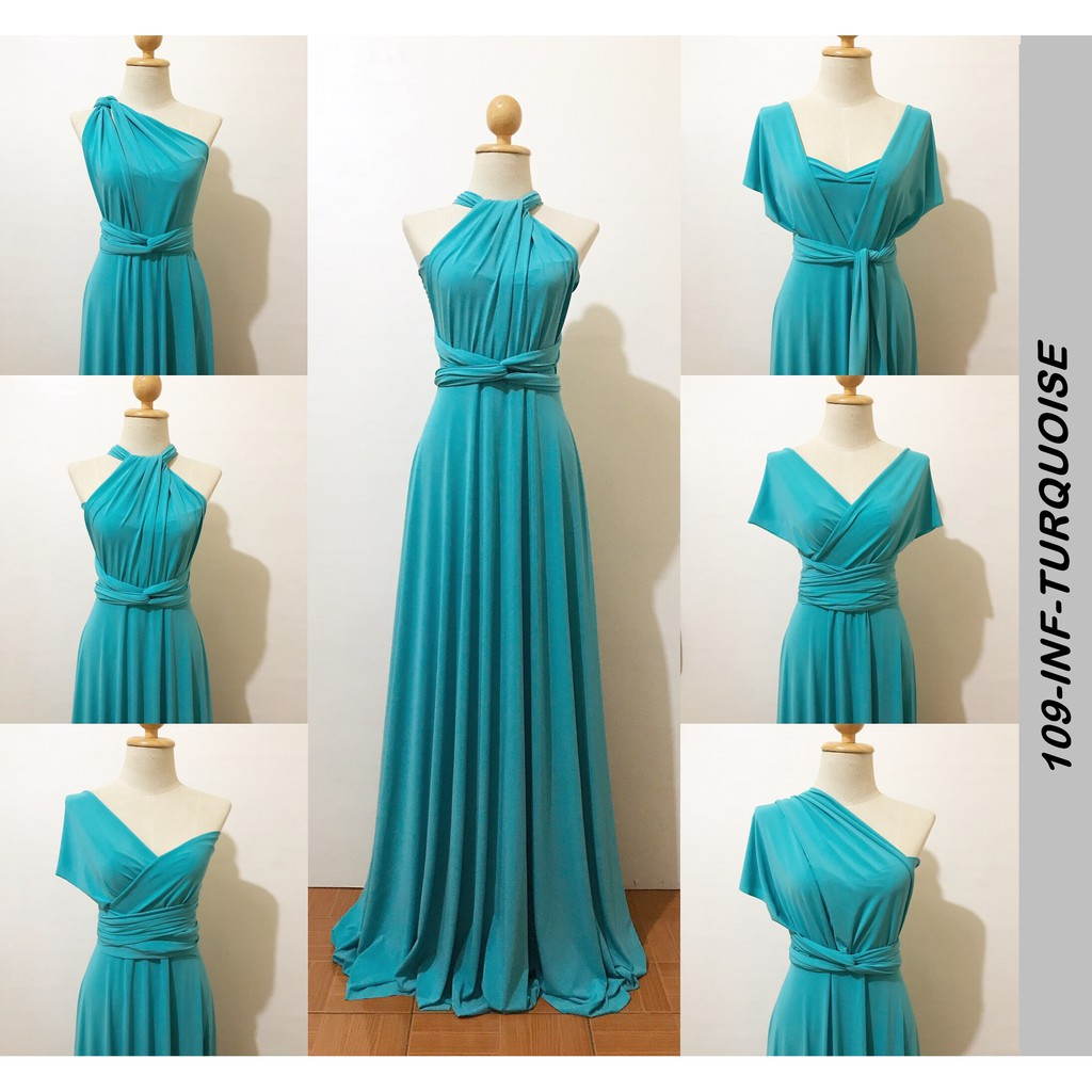 01ce119cb Teal Infinity Dress   Shopee Philippines