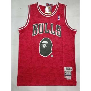 pretty nice 442a3 51abc NBA Chicago Bulls 93 BAPE Basketball Jersey | Shopee Philippines