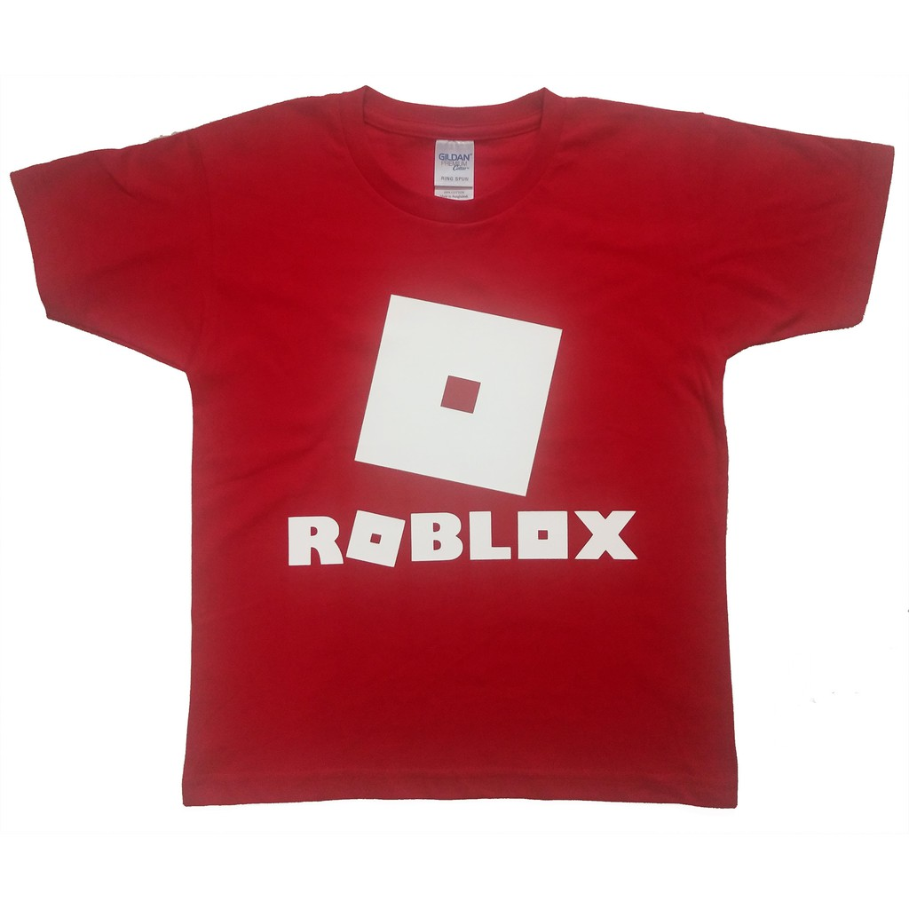 Roblox Spiderman T Shirt C C Print Roblox T Shirt Kids Red Shopee Philippines