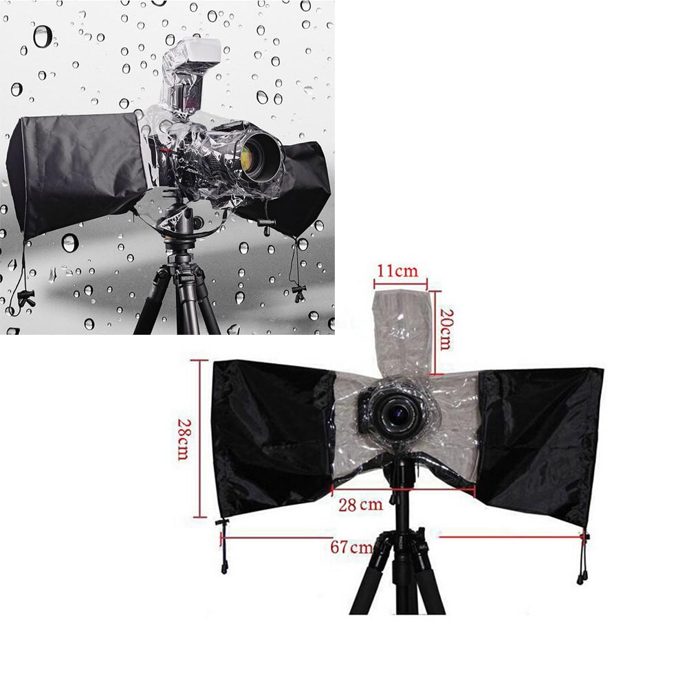 Waterproof Camera Cover Anti-dust Protector Rain Water Case Camera Rain Cover Raincoat Transparent Black For Canon 5d3 70d 6d Camera & Photo