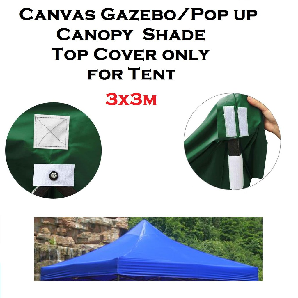 super popular 07c1a 9d3f5 3X3M TENT COVER Canvas Gazebo Canopy Shade Top Cover Only