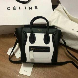 7011caede555 Celine Bag 💎Nano Premium Release Black White Luggage
