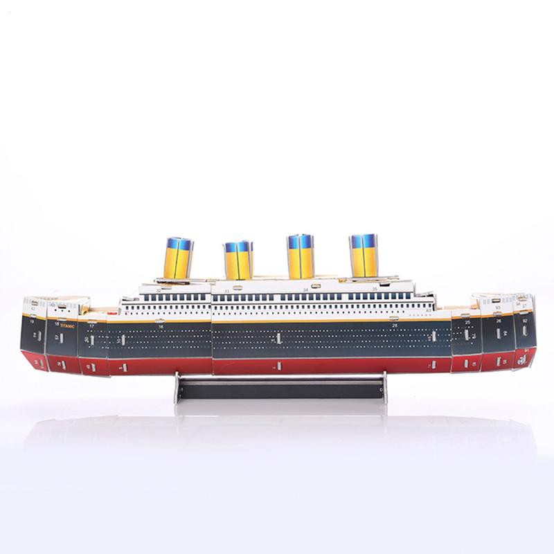 f725b4fa 30 Pieces 3D Educational Puzzles Titanic Movie Ship