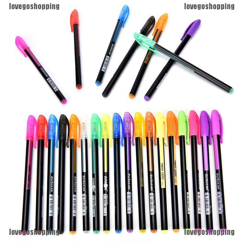 Lovegoshop 48 Pcs Color Gel Pen Set Adult Coloring Book Ink Pens Drawing Painting Craft Art Shopee Philippines