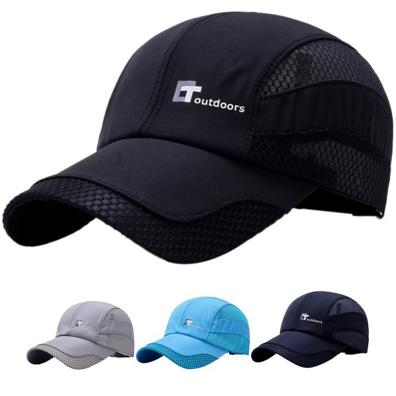 ff73d8c49df125 Mesh Cap Adjustable Hats Outdoor Golf Tennis Fishing Hiking | Shopee  Philippines