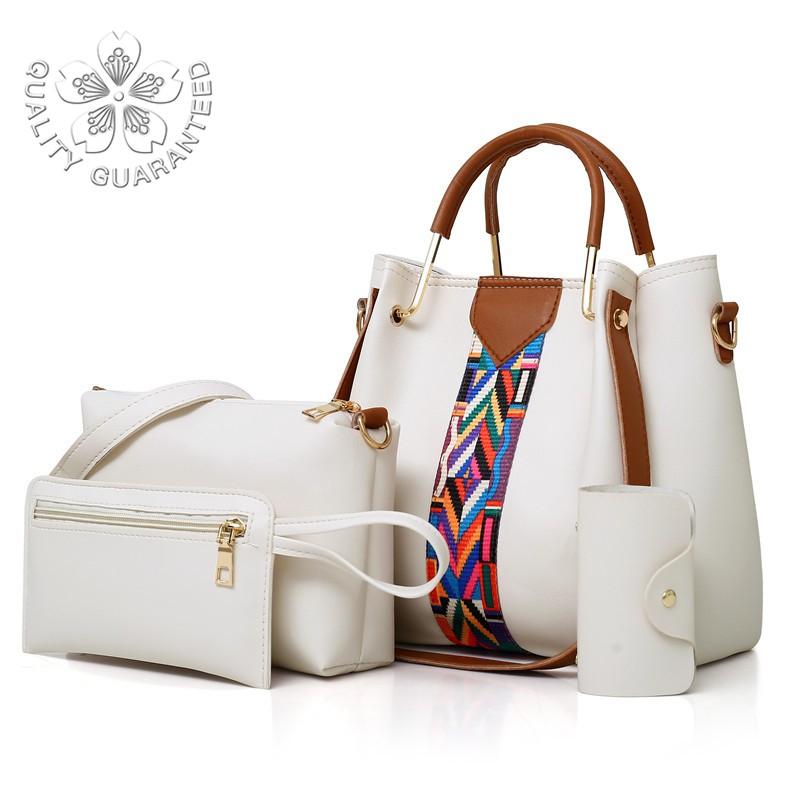 Korean Bag Women's Single Shoulder Handbag 4 In 1