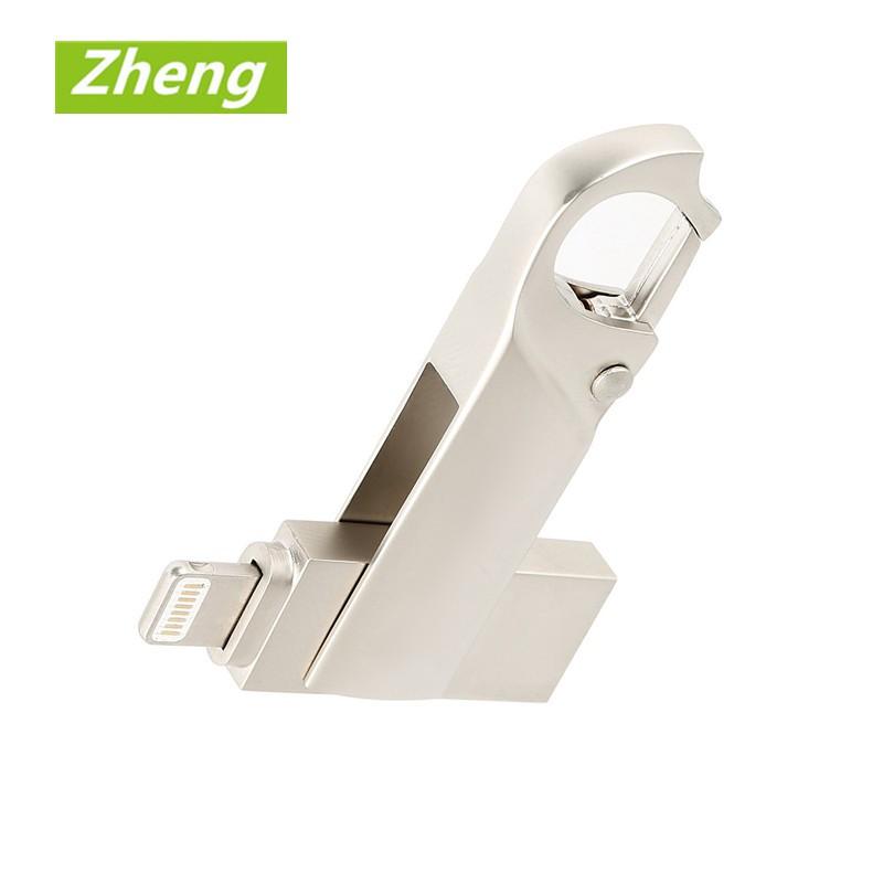 iPhone OTG Pendrive Metal Waterproof USB Flash Drive 32GB~512GB for PC/Phone