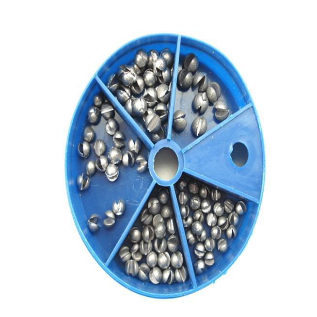 100pcs Fishing Egg Bullet Rig Sinkers Angling Lead Weight Split Shot Oval X/_TI