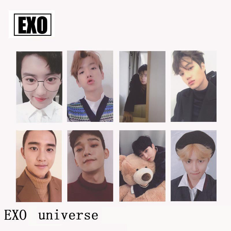 Beads & Jewelry Making Jewelry & Accessories Lovely Kpop Exo The War Private Photo Paper Card Chanyeol Sehun Self Made Autograph Photocard Poster 8pcs