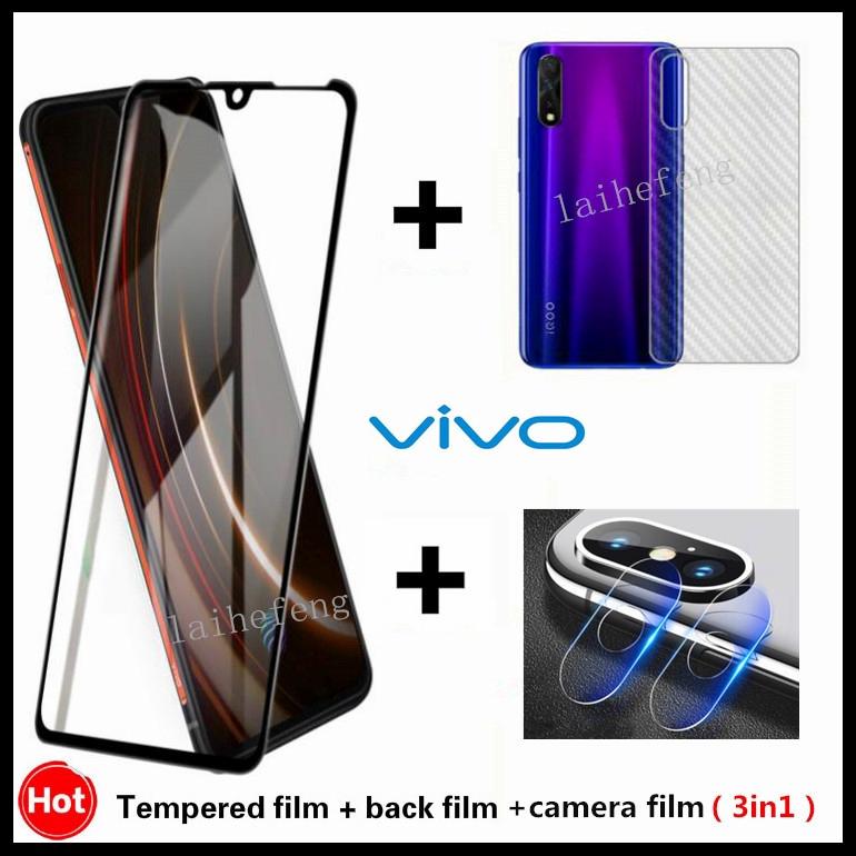 LGYD for 25 PCS for Vivo Y17 Fingerprint Proof Full Screen Tempered Glass Film