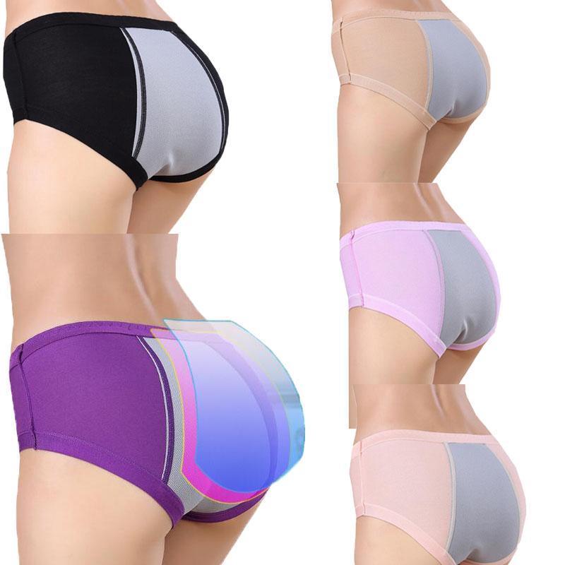 4Pcs Period Underwear High Waist Menstrual Briefs Underwear Period Panties Women
