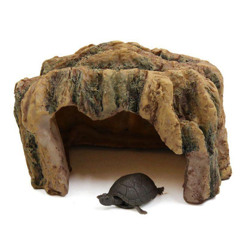 Tank Resin Stone Turtle Basking Climbing Platform Terrace Rock Aquarium Decor for Tortoises Repitle Fish