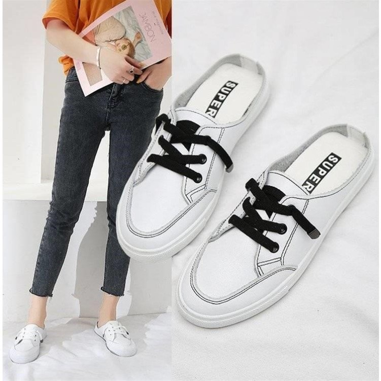 26e29e14e3772 【LaLa】New fashion Flat shoes Loafers Mules Half shoes (add 1 size bigger )