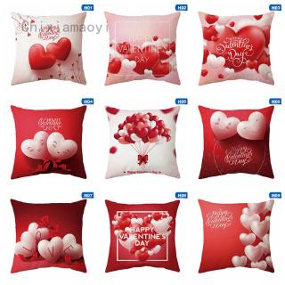 Happy Valentine/'s Day Sofa Pillow Case Red Rose Lover Couple Gifts Cushion Cover
