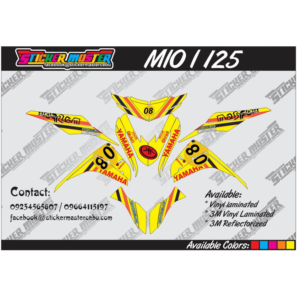 Mio i 125 decals shopee philippines