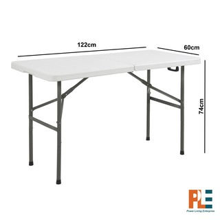 Folding Table Individual 4ft 6ft Fold In Half Shopee Philippines