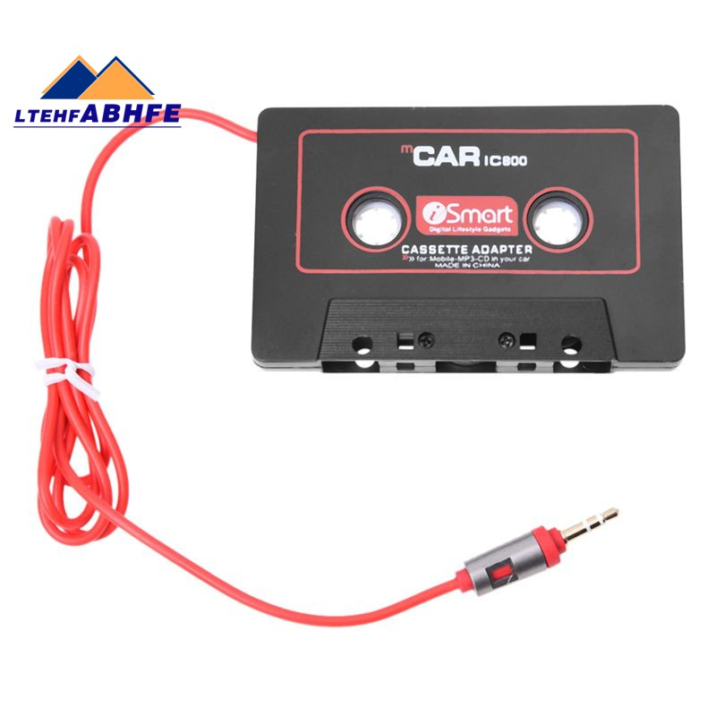 Mobile Device Cassette Adapter for Car Compatible with Phone Cassette to Aux Adapter MP3 Black 3 Feet Long Cable with 3.5mm Stereo Plug