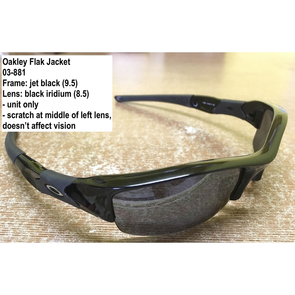 9b142b503141 Authentic Oakley Flak Jacket jet black w/ black iridium lens   Shopee  Philippines