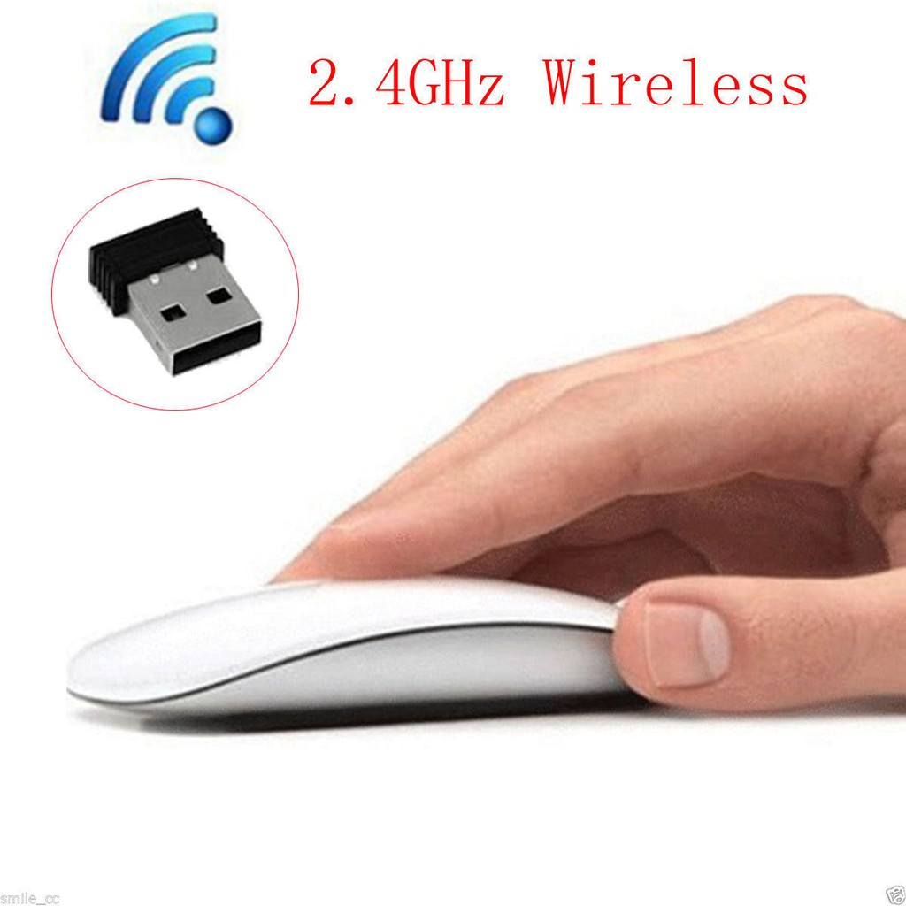 2.4G Wireless Optical Mouse Ergonomic Grips Mice for Apple Mac Macbook Pro Air