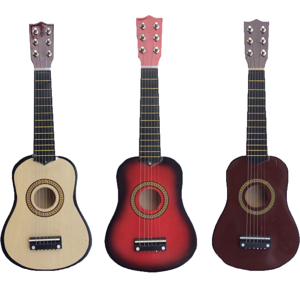 21 Wooden 6 Strings Acoustic Mini Guitar Musical Instrument Shopee Philippines