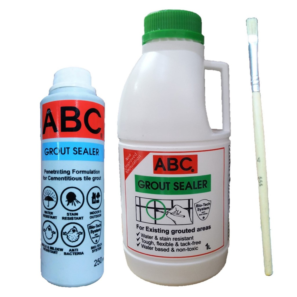 abc grout sealer 250ml or 1l with free brush