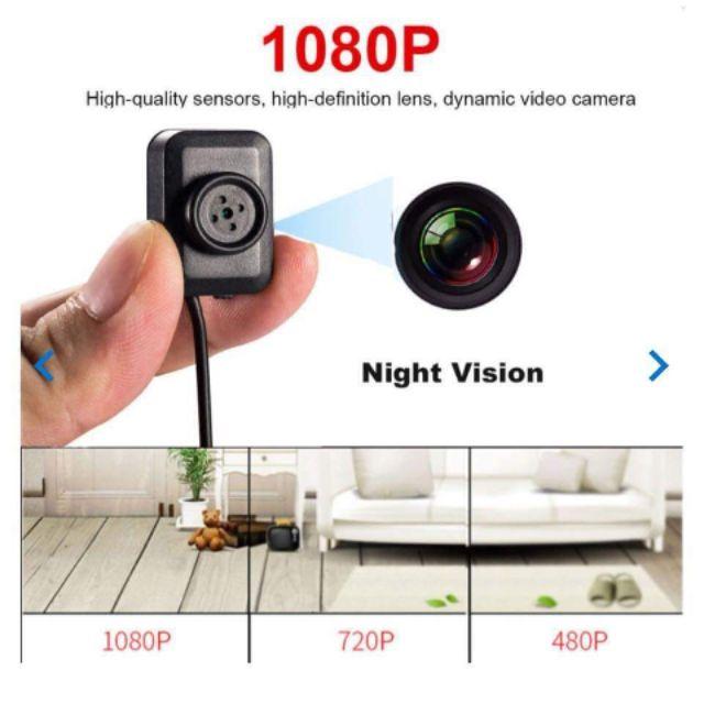 1080p Hidden Cam Button Mini Spy Cam Discreet DVR Recording