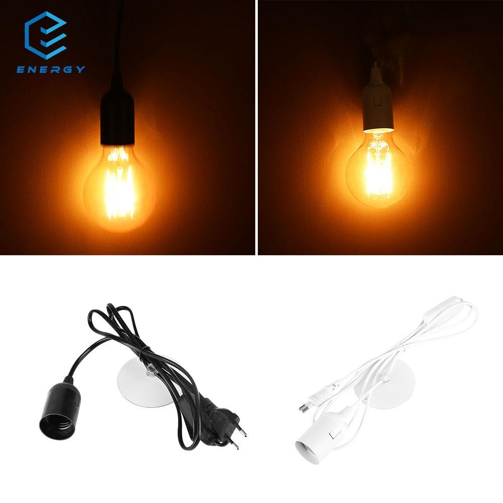 Egy E27 Light Bulb Socket Lamp Holder Ac 250v Pendant Edison 4a Voltage Without Wire Ceiling Adapter Black Shopee Philippines