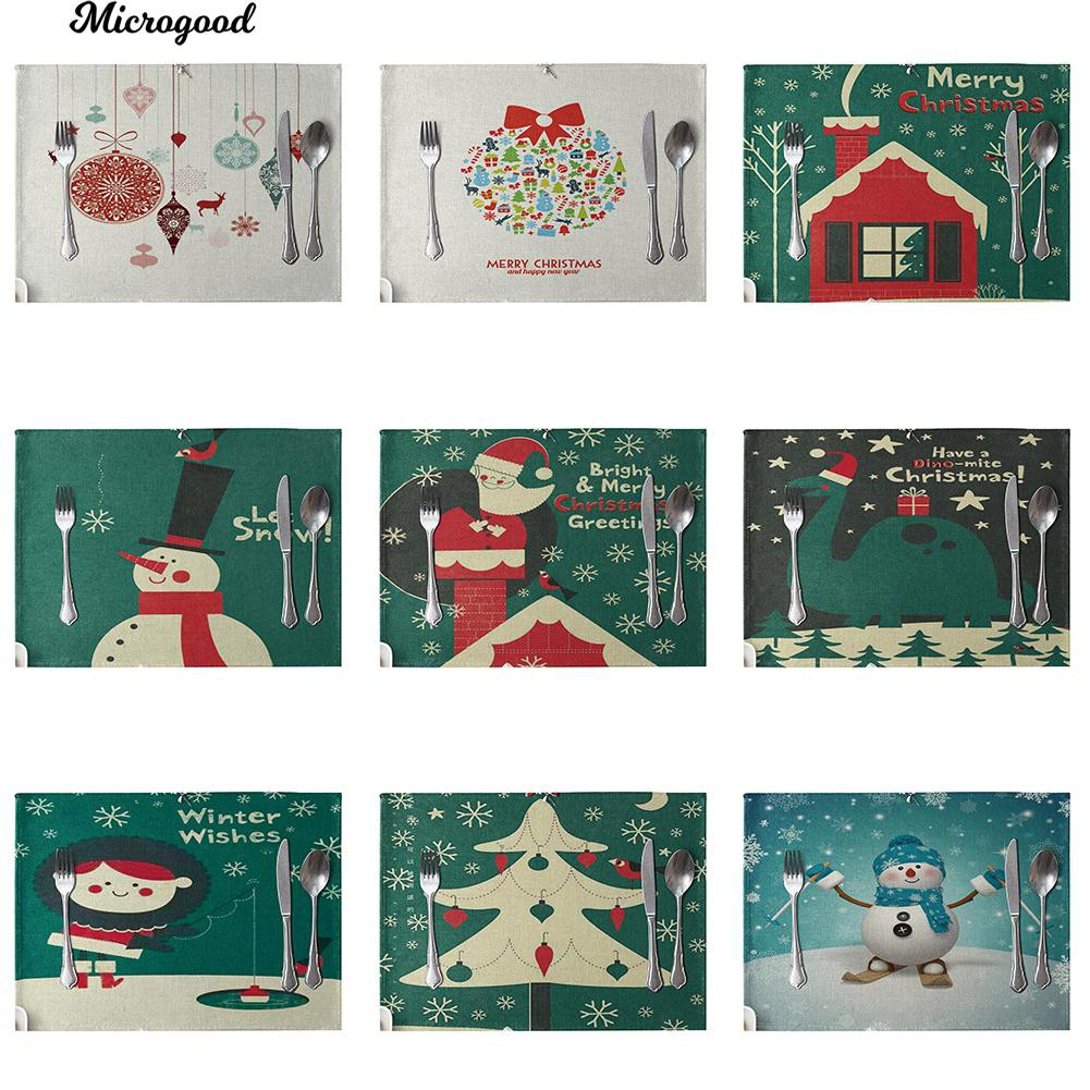 Christmas Plastic Tablecover Cute Santa And Snowman Kids Children Festive Table Party Dinner Decoration Xmas Cloth Tableware Easy To Clean