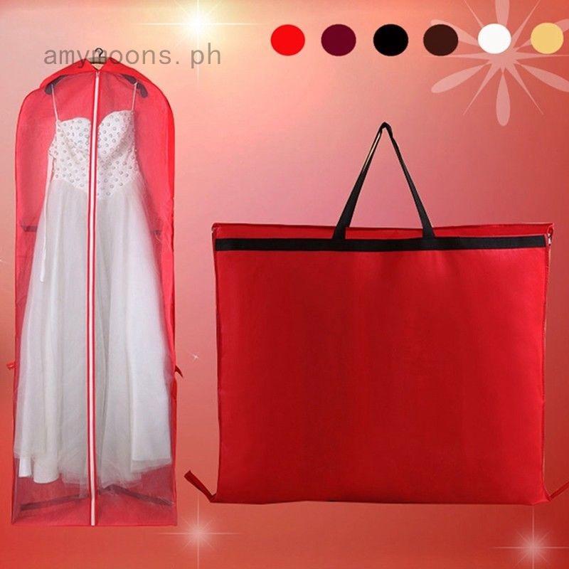 Dustproof Bridal Wedding Evening Dress Gown Garment Storage Cover Bag Travel Holder