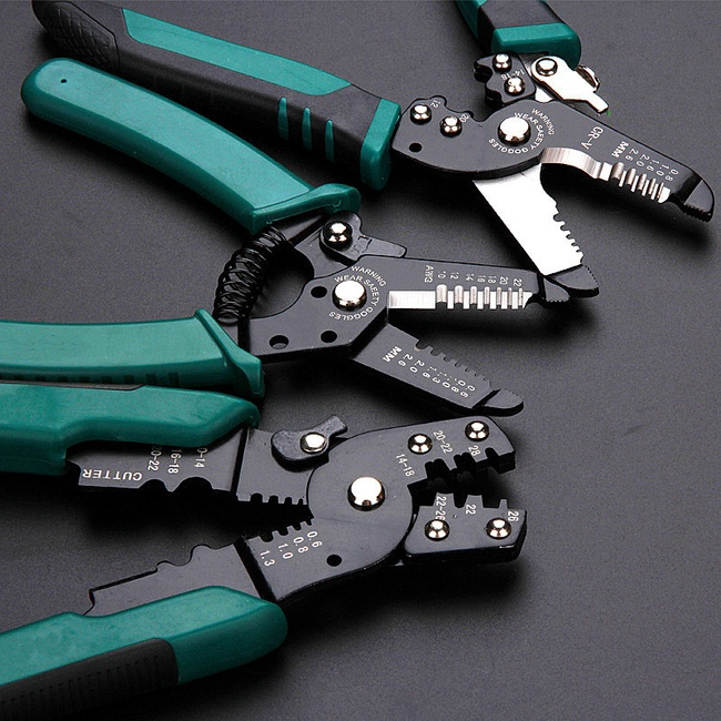 Steel+PPR Cable Wire Stripper Cutter Crimper Plier Tool Antiskid Wear Resisting