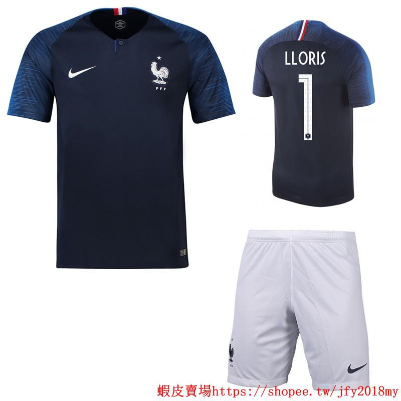 7f4c79ffaa3 2018 World Cup France National Team NO.1 LLORIS Home kit away kit ...