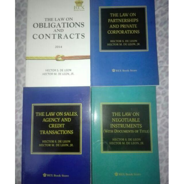 Law Books De Leon (Brandnew)