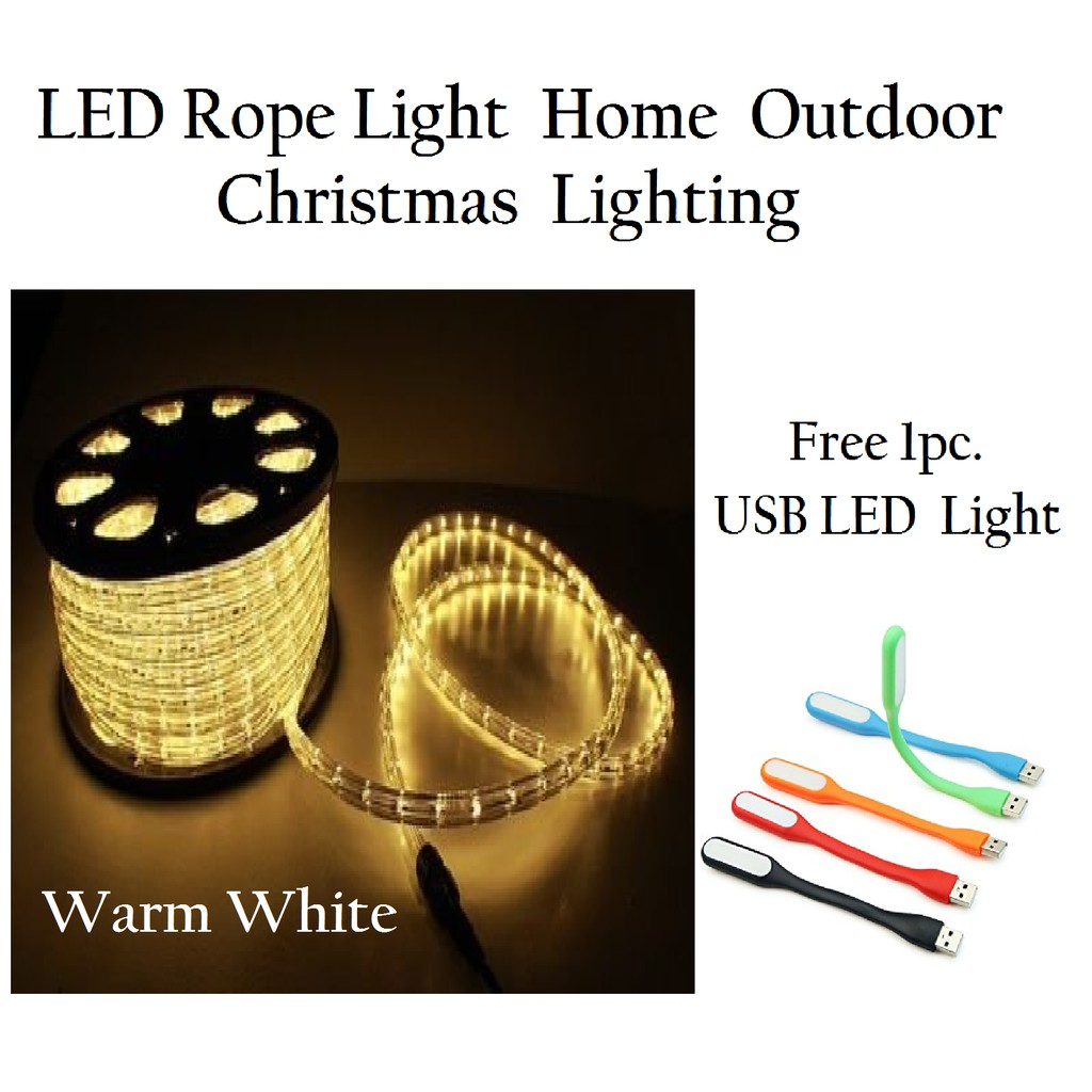 100m Led Rope Light Home Outdoor Christmas Lighting Shopee Philippines