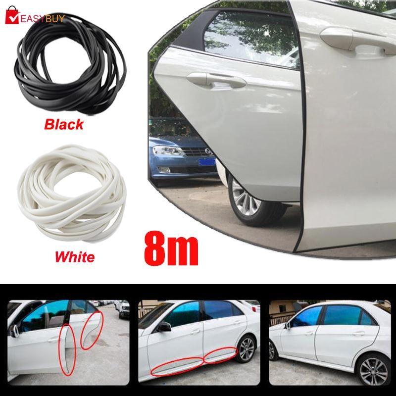 5M Black Car Door Mouldings Rubber Scratch Protector Strip Edge Guard Trim DIY