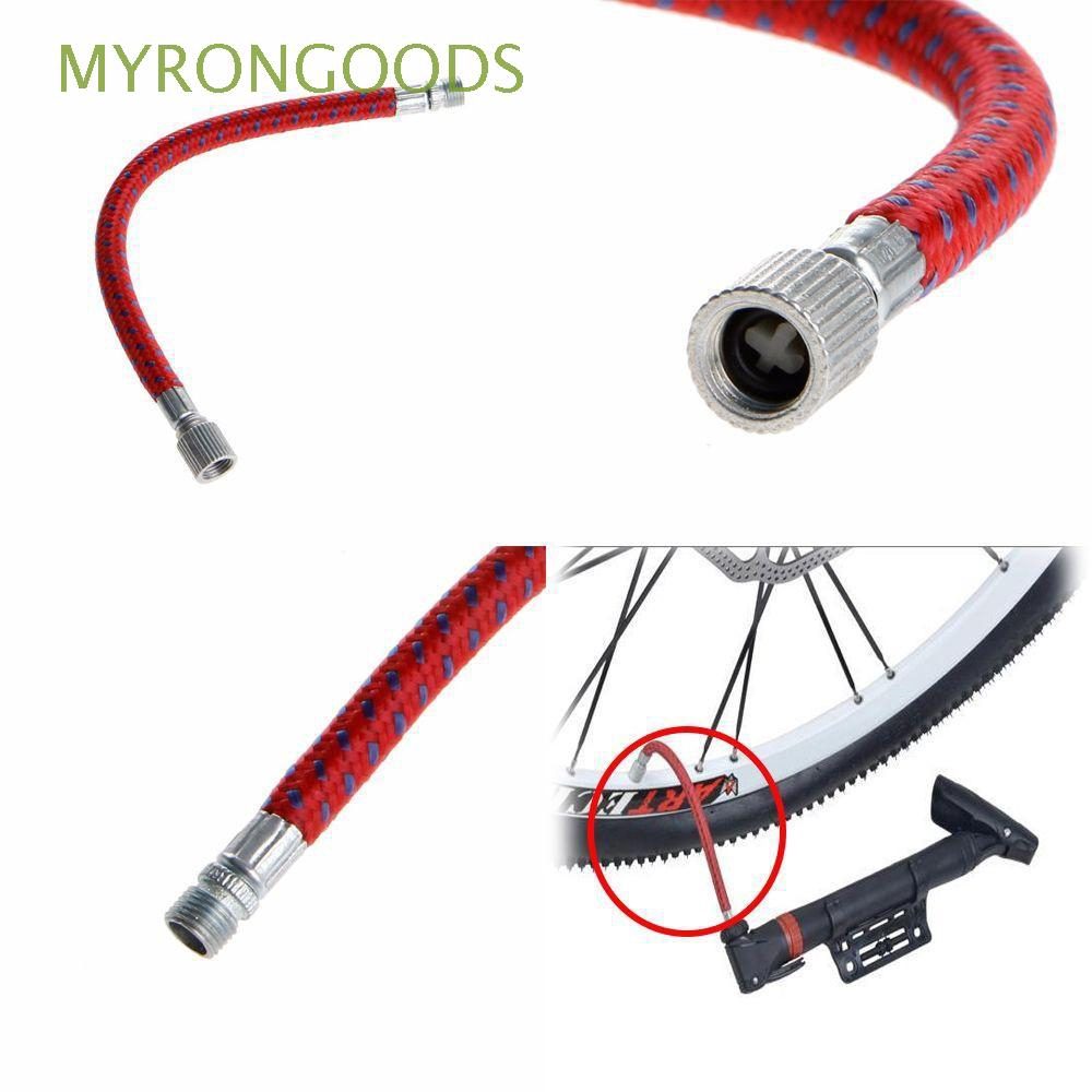 2Pcs Bicycle Pump Extension Hose Inflator Tube Pipe Cord for Schrader Valve