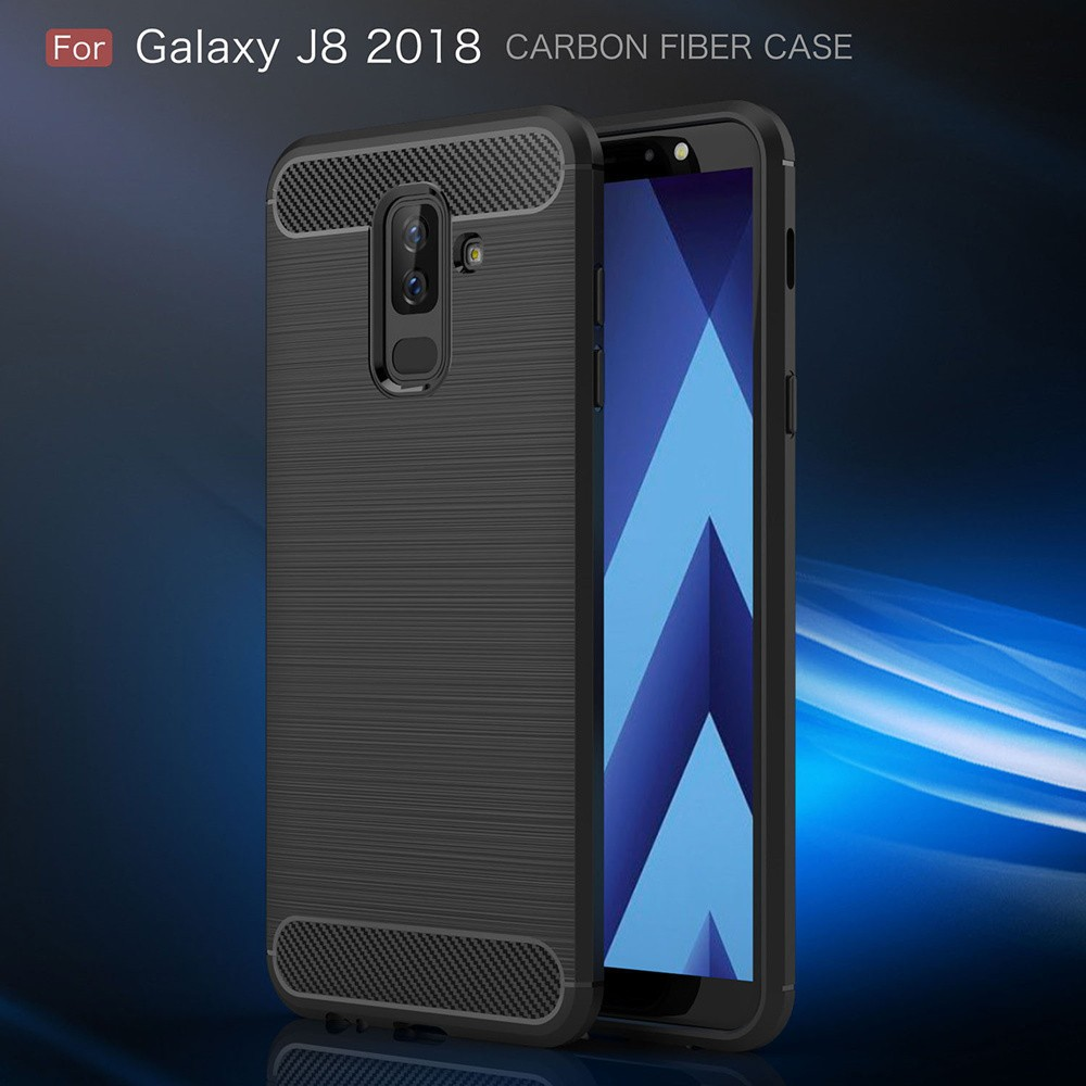 Cell Phone Accessories Considerate For Samsung Galaxy A10 Case Carbon Slim Gel Fibre Cover Soft Silicone